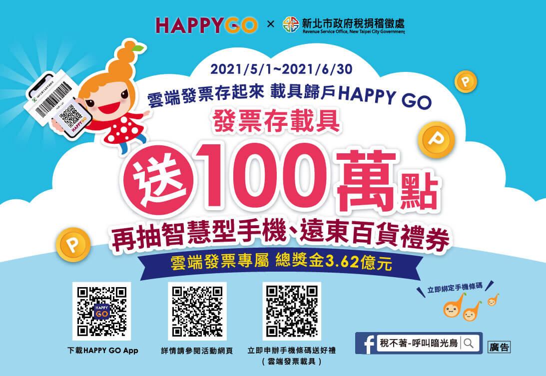 HAPPY GO響應政府推廣雲端發票 祭百萬點數再抽iPhone12