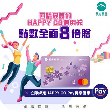 回饋最高的HAPPY GO信用卡~玉山幸運PLUS鈦金卡